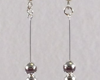 Glass Pearl Stack Earrings