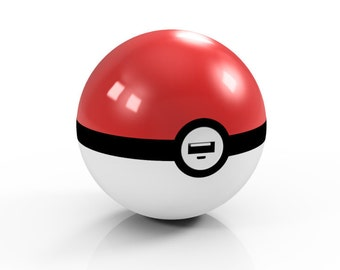 Pokemon Go Pokeball Phone Charger USB Port with Keychain Hand Made in Iowa