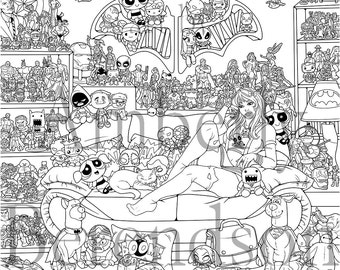 Suit Up Coloring Poster