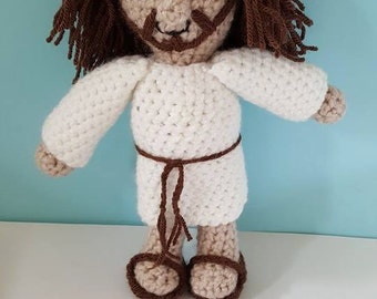 Crochet Jesus - Christian - Catholic - baptism - christening - gift - Holy Communion - Sunday School - Church - Bible