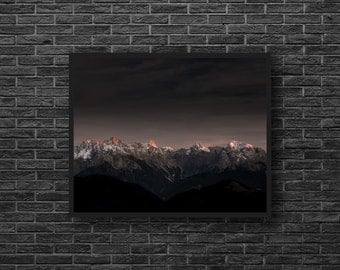 Mountain Wall Decor - Mountain Silhouette - Mountains Photography - Mountain Sunrise Photo - Mountain Landscape - Nature Wall Decor