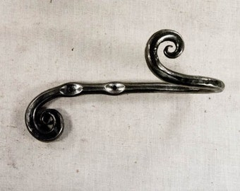 Hand Forged Curtain Holdback or tieback hook, one pair, custom made