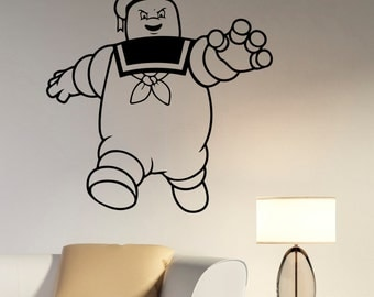 Marshmallow Wall Sticker Ghostbusters Decal Movie Vinyl Art Decorations for Home Housewares Kids Living Room Bedroom Decor ghs3