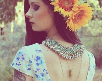 Flowercrown Fascinator Headpiece Sunflower