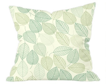 Green Leaf Pattern Cushion 40x40cm