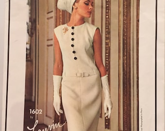 Vogue pattern Lanvin 1960's