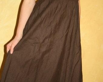 J Crew brown linen dress Size S