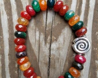 Candy Pieces Agate Bracelet