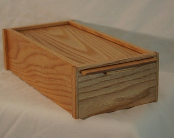 Handcrafted Oak Box with slide out lid. Could be used as a Jewelry Box, Memory Box, Keepsake Box