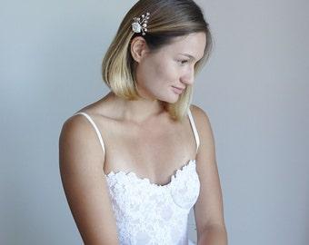 Silver Wedding Hair Pins/Flower Bridal hair pins/ Bridal hair accessories/ Wedding hair pieces