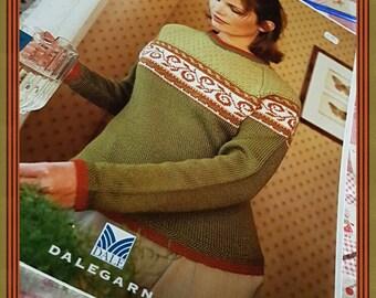 2000 Dale of Norway #6002 Beautiful Fair Isle Style Sweaters Knitting Pattern Book