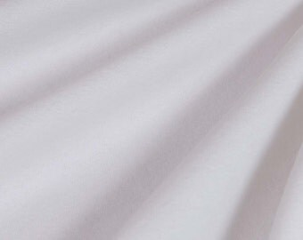 Premium Heavy Cotton Flannel (White, sold by the yard)
