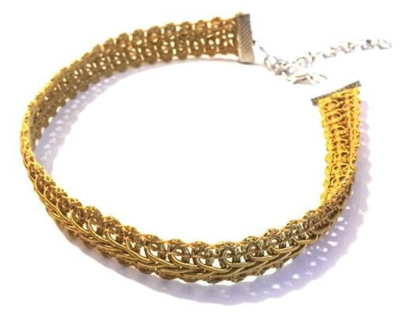 Choker | Gold | Detailed | Woven | Necklace | Fashion | Gifts | Gift | ORA