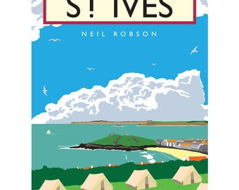 St. Ives Illustration - 40 x 30cm Art Print