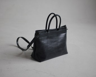Black mid-sized bag of genuine leather gabrielle_27