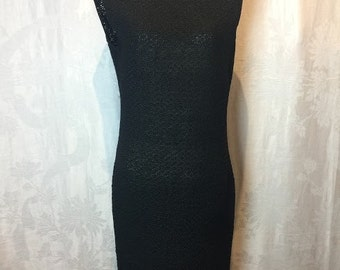 26. VINTAGE- Black Woven Dress