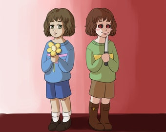 Undertale - Chara and Frisk Print