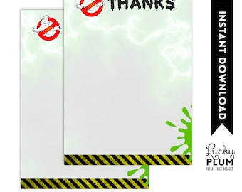 Ghostbuster Thank You Cards  / Ghost Buster Thank You Cards  / Boy Thank You Cards  / Lego Thank You Cards  / DIY Printable *Digital file*