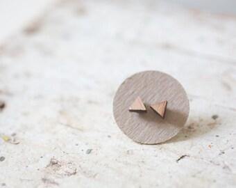 Wood Triangle Earring | Wood Triangle Earrings | Triangle Earrings | Wood Earring Stud | Rustic Wedding Earrings Hypoallergenic Earring Stud