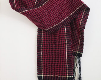 Red and Black houndstooth scarf
