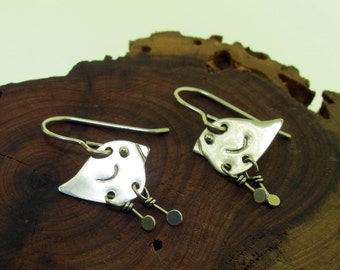 Silver Bird Earrings, by Kathryn Riechert