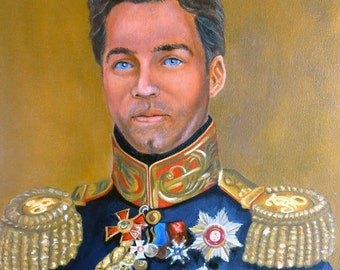 Custom Portrait Painting in Military Uniform