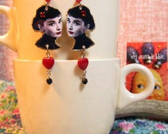 Audrey Hepburn Earrings Breakfast at Tiffanys Holly Go Lightly