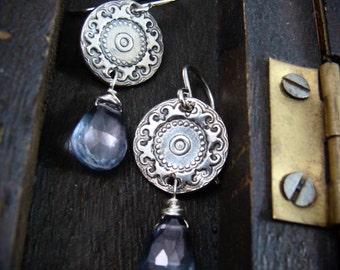 Montespan ... blue mystic quartz earrings