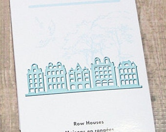 Row Houses - Inspire by Spellbinders - Cut, Emboss, Stencil, 5 inches wide by 1.75 inches for the Tallest Building