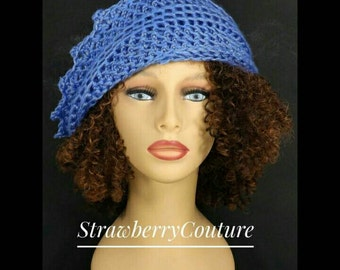 Womens Crochet Hat,  Womens Hat Trendy,  Crochet Beanie Hat,  Womens Beanie,  Berry Blue Hat,  Lauren Beanie