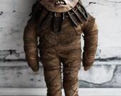 Creepy Mummy Doll Handmade Voodoo Doll Art Toy Stuffie Monster Clay Soft Doll
