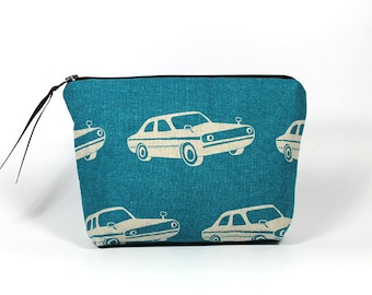 Turquoise Muscle Car Zipper Pouch