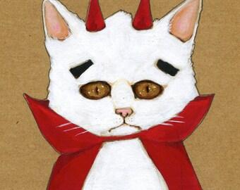 """Lucipurr Cat 5"""" x 7"""" Print"""