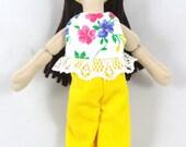 Brunette Dress Up Doll - Toy Doll for Kids