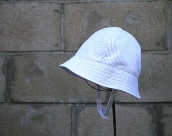 Baby and Toddler Sun Hat in Tan and White Stripes