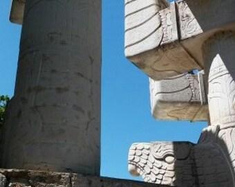 Modern Maya Architecture. Parque de las Americas. Merida, Mexico.