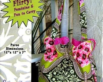 Unused BOHO BAGUETTE PURSE Pattern Studio Kat Designs #02100 Fabric Bag 2009 Sewing