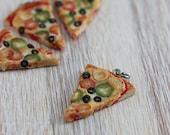 Veggies Pizza  Pendant / Charm
