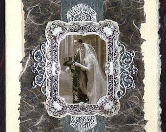 Wedding Collage Card Fairy Bride Anniversary
