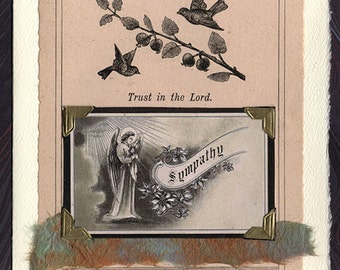 Sympathy Card Angel Trust in the Lord