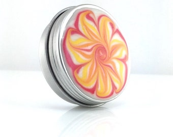 Medium Treasure Box with Pink and Orange Flower - Orange Flower Jewelry Box - Trinket Box - Pill Box - Handmade - #256 - Ready to Ship