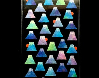 Mount Fuji Stickers - Mountain Stickers - Japanese Stickers -   Masking Stickers S45