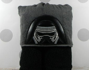 Kid's Hooded Towel - Kylo-Ren Hooded Towel - Character Inspired Kylo-Ren Towel for Bath, Beach, or Swimming Pool