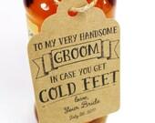 Cold Feet Tag - Groom Tag - Wedding Tag