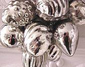 SALE!  Hand Strung Silver Mercury Glass Ornament Garland