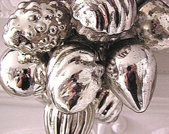 SALE!  Hand Strung Silver Mercury Glass Ornament Garland