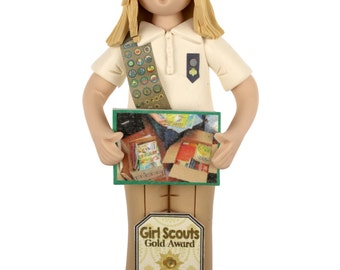Girl Scout Gold, Silver or Bronze Full Body with Project Photo