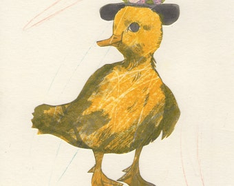 A Gentle Baby Duck (original Daily Drawing #42, 2016)
