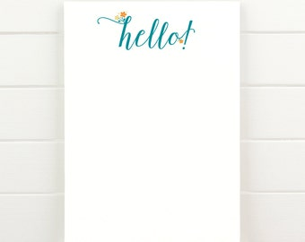 Hello! - 50 Sheet Everyday Notepad To Do List