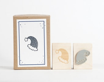Santa Hat Rubber Stamp for Christmas and Holidays